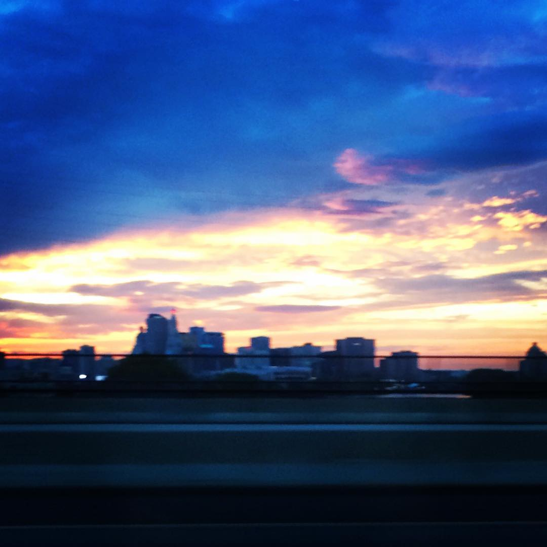 The sky was ridiculous tonight. Colors were. Love Mother Nature when she is in a good mood...